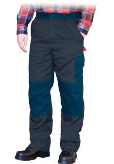 Spodnie do pasa ochronne REIS BOMULL ciemnoszaro-niebieskie
