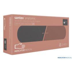 Rękawice lateksowe diagnostyczne bezpudrowe SANTEX-PF
