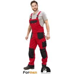 Spodnie ogrodniczki Leber & Hollman Formen LH-FMN-B czerwone r. 46 - 62