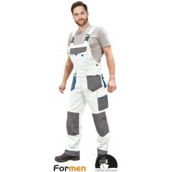 Spodnie ogrodniczki Leber & Hollman Formen LH-FMN-B biało-szare r. 46 - 62