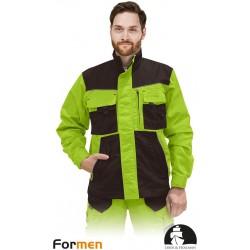 Bluza ochronna Formen LHFMNJ LBR limonkowo-brązowa