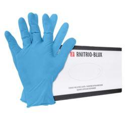 Rękawice nitrylowe bezpudrowe 100 szt. RNITRIO-BLUX
