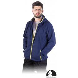Bluza polarowa męska z kapturem Leber & Hollman LH-TORTUGA granatowa r. M - 3XL