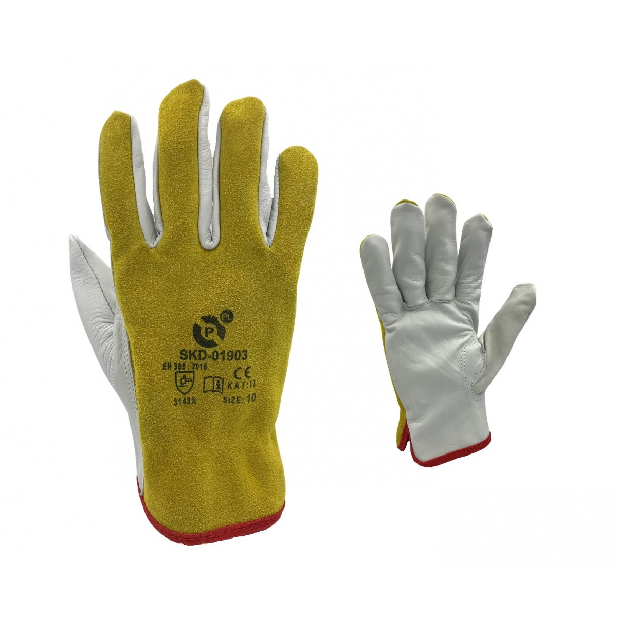 Rękawice robocze skóra bydlęca PROMIG