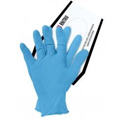 Rękawice nitrylowe niebieskie bezpudrowe RNITRIO N r. S - XL