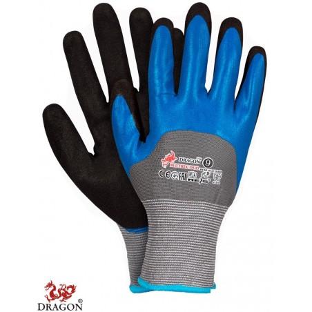 Rękawice ochronne powlekane nitrylem BLUTRIX-DUO